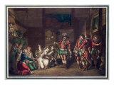 Death of Armand de Gontault, Baron de Biron Giclee Print by Jacques Francois Joseph Swebach