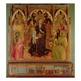 Altarpiece of the Madonna of the Snow, c.1430-32 Giclée-tryk af Sassetta
