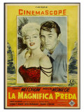 River of No Return, Italian Movie Poster, 1954 Reproduction procédé giclée