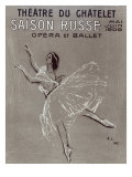 Poster for the 'saison Russe' at the Theatre Du Chatelet, 1909 Giclee Print by Valentin Aleksandrovich Serov