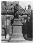 Statue of Voltaire by Joseph Michel Caille Giclee Print by Adolphe Giraudon