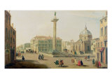 The Piazza Colonna, Rome Giclee Print by Gaspar van Wittel