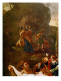 The Adoration of the Golden Calf, before 1634 Giclee Print by Nicolas Poussin