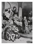 Patrick Henry Making His Famous Speech in the House of Burgesses Giclee Print by Peter Fred Rothermel