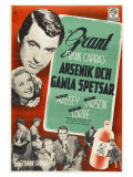 Arsenic and Old Lace, Swedish Movie Poster, 1944 Print