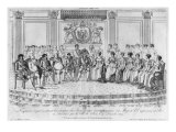 Sketch Depicting Napoleon I and the Sovereigns at Ball Given by City of Paris on 4th December 1809 Giclee Print by Adrien Pierre Francois Godefroy