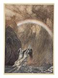 """Rhens barn berättade om sina sorger, """"Rhenguldet"""" Gicleetryck av Arthur Rackham"""