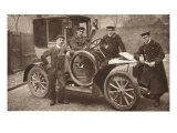 First Taxi-Cab in Liverpool, 1906 Giclee Print by J.P. Wood