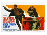 Butch Cassidy and the Sundance Kid, Belgian Movie Poster, 1969 Print