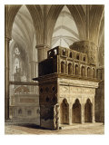 Edward the Confessor's Monument, Plate M from 'Westminster Abbey', engraved by J. Bluck Giclee Print by Augustus Charles Pugin