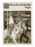 Sir Bors Rides with the White Knight, Illustration from 'The Story of the Grail and the Passing of  Giclee Print by Howard Pyle
