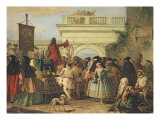 The Charlatan Giclee Print by Giandomenico Tiepolo