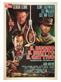 The Good, The Bad and The Ugly, Italian Movie Poster, 1966 Giclee Print