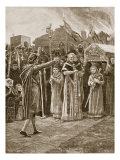 The Meeting of Kenneth and Fenella, 993, Illustration from 'Hutchinson's Story of British Nation' Giclee Print by Richard Caton Woodville