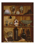 Trompe l'Oeil with a Statuette of Hercules Giclee Print by Jean Valette-Penot