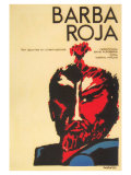 Red Beard, Cuban Movie Poster, 1964 Art