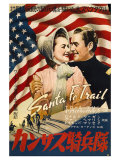 Santa Fe Trail, Japanese Movie Poster, 1940 Print