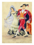 Costume Design for Mozart's 'The Marriage of Figaro', 1936 Giclee Print by Jakov Zinovyevich Stoffer