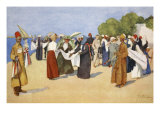 Bargain Hunting, from 'The Light Side of Egypt', 1908 Giclee Print by Lance Thackeray
