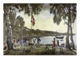 The Founding of Australia by Capt. Arthur Phillip, 26th January 1788 Giclee Print by Algernon Mayow Talmage