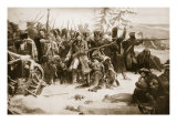 Marshal Ney Supporting the French Rearguard Giclee Print by Adolphe Yvon