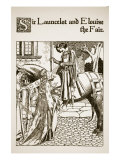 Sir Launcelot and Elouise the Fair, Illustration from 'The Story of Champions of Round Table' Giclee Print by Howard Pyle