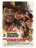 Butch Cassidy and the Sundance Kid, Italian Movie Poster, 1969 Giclee Print