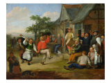 The Peasants' Dance, 1678 Giclee Print by Matthias Scheits