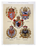Coats of Arms from the Austro-Hungarian Empire, from 'Heraldischer Atlas' Giclee Print by Hugo Gerard Strohl