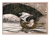 He Passed Under the Bridge and Came Within Full Sight of the Delectable Gardens', Illustration for  Giclee Print by Arthur Rackham