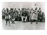 Female Warriors from Dahomey, Benin, Practicing with Weapons, Head and Viceroy of Whydah, Giclee Print