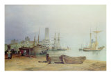 Low Lights, North Shields Giclee Print by Thomas Miles Richardson