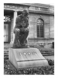 Statue of the Thinker on Auguste Rodin's Tomb in the Park of Villa des Brillants Giclee Print by Auguste Rodin
