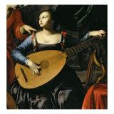 Saint Cecilia and the Angel Giclee Print by Carlo Saraceni