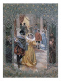 Illustration for a Scene in &#39;Much Ado About Nothing&#39;, c.1900 Giclee Print by Christian August Printz