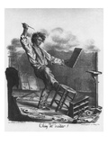 Rotten Job', Engraved by Langlume Giclee Print by Edme Jean Pigal