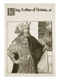 King Arthur of Britain, illustration from 'The Story of King Arthur and his Knights', 1903 Giclee Print by Howard Pyle