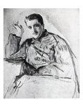 Serge Diaghilev, 1904 Giclee Print by Valentin Aleksandrovich Serov