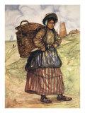 A Fisherwoman of Zandvoort, 1904 Giclee Print by Nico Jungman