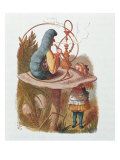 Alice and the Caterpillar, Illustration from 'Alice in Wonderland' by Lewis Carroll Giclee Print by John Tenniel