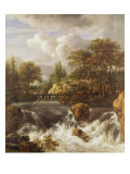 A Waterfall in a Rocky Landscape, c.1660-70 Giclee Print by Jacob Isaaksz Ruisdael