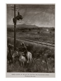 Boers Caught in the Act of Cutting the Telegraph Wires Giclee Print by Walter Stanley Paget