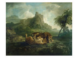 Leopards at Play, c.1763-8 Giclee Print by George Stubbs