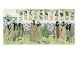 Actors Walking Giclee Print by Utagawa Toyokuni