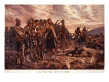 All That Was Left of Them': the Black Watch after the Battle of Magersfontein, 1899 Giclee Print by Richard Caton Woodville