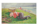 The Drummer Boy's Dream Giclee Print by Frederic James Shields