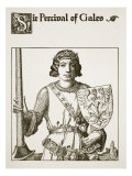 Sir Percival of Gales, Illustration from 'The Story of the Champions of the Round Table' Giclee Print by Howard Pyle