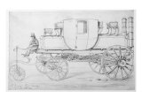 Gurney's Steam Carriage, 1827 Giclee Print by George The Elder Scharf