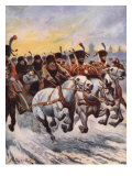 Napoleon at the Retreat from Moscow Giclee Print by Stanley L. Wood