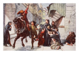 Relief in Florence Following the Leagues Attack Giclee Print by Francis William Topham